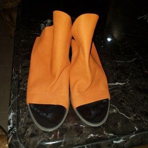 Balenciaga Paris orange green heels beautiful
